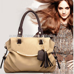 Promotion WEIDIPOLO Beautiful elegant tassel handbag GENUINE LEATHER+ MICROFIBRE messenger bag female bags new arrival