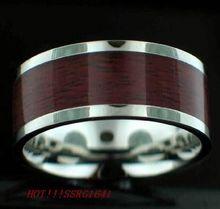 2014 Fashion stainless steel men's wood ring