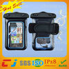 2014 pvc waterproof diving bag for samsung s5 with armband and earphone