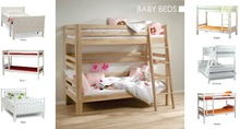Children beds solid wood (oiled, painted)