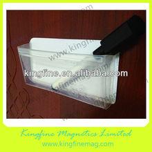 Dimensional office transparent magnetic pocket