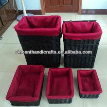 lavanderia cestino salice e asciugamano cestini di paglia e vassoi vassoio cestino del pane