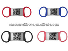 nylon pet tags engraved QR code/ID,pet id tags with metal