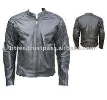 Biker Motorcycle 100% Genuine Black Leather Jacket All Sizes