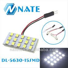 5630 SMD Interior Car LED Light, Auto Interior Decorative 15SMD Light, PCB Dome/Room LED Car Light for Universal Cars