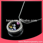 Hot sale glass pendant memory floating charm locket