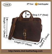 Business Style Genuine Leather Men's Laptop Briefcase Handbag Men# 7029Q
