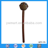 Cute and hot selling PVC inflatable stick toys, monkey head stick inflatable toy with goods in stock