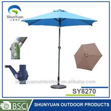 2.7M with tilt Aluminum or Steel Outdoor Garden Patio Umbrella