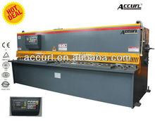 Motor guillotine shearing machine, nc korea, omega shears, Hydraulic metal sheet cut