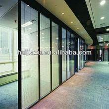 hollow glass exterior sliding glass walls aluminum partition wall