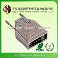 D-sub 9 pinos de níquel metal hood, duplo braçadeira