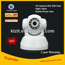 CCTV Security Video Call Outdoor 3G Camera Surveillance with Night Vision