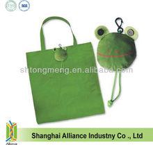 Lovely Frog Foldable Nylon Tote Bag