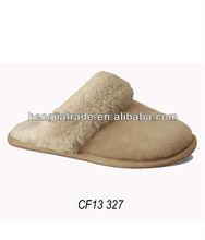 fashion fuzzy indoor shearling slipper