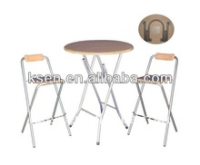 Folding coffee table and chair set KC-7539