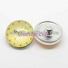 Metal Press Button Popular Charm jewelry for leather bracelet