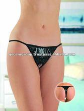 black model thongs