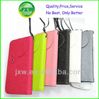 Manufacture less than 5 inch mobile phone universal smart phone wallet style leather case