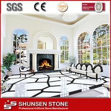 Imitação piso de pedra / vidro banheiro bancada