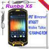 """Original Runbo X5 IP67 Dustproof Waterproof Rugged Outdoor cellphone 4.3"""" Dual SIM MTK6577 with walkie talkie"""