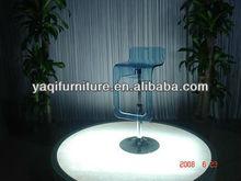 blue acrylic hanging bar stool