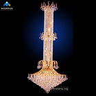 hotel extra large chandelier lighting with golden finish