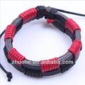 Hot!! Atacado moda estilo bracelete de couro trançado psl-294