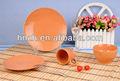 16 pcs laranja cor tarja gravando clássico única cor vidros jogo de jantar de porcelana/laranja cerâmica jantar conjunto/