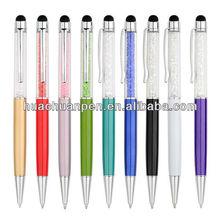 popular bling bling crystal stylus pens for office,gift pen for client