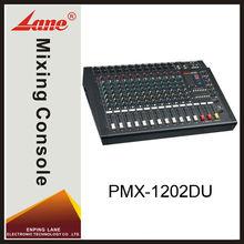 Lane PMX-1202DU 12 channel professional power usb mixing console
