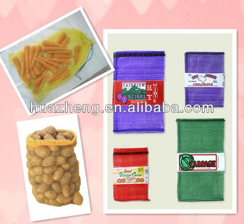 drawstring mesh bag for carrot,orange,potato,garlic,etc