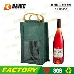 Exporter Eco Jute Wine Bag Wine Box Wine Carrier DK-HY098