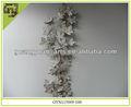 de madera natural de las decoraciones de la hoja en forma de adornos de navidad