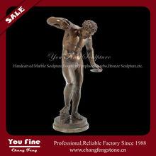 garden bronze greek nude male statue