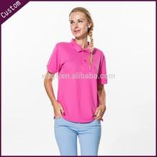 custom design clothes with polo collar for women