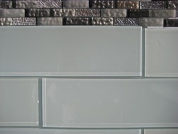"""4x16"""" Snow White Glass Tiles only $14.95/sf only, GL1401"""