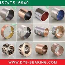 Oilless Plain DU Teflon PTFE Coating steel bush/SF-1 PAP Slide sleeve bushing/Flanged bronze self lubricating bearing bushing