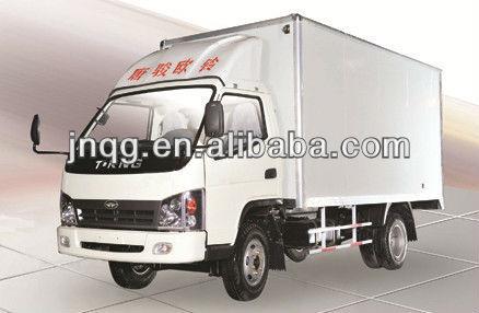 Chinese high quality diesel small box van truck 2 ton