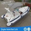 24ft inflable rígido de fibra de vidrio costilla barco de buceo