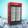 refrigerador comercial 1000l doble puerta corredera enfriador de bebidas