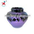 venta al por mayor de color púrpura florero de cristal