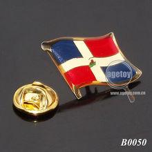 Custom Flag Initial Brooch