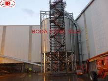 Bulk storage silo with chain conveyor /cone bottom steel silo