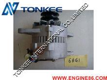 Engine spare parts ZX200-6 ZAX200-6 6BG1 alternator