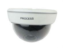 Black Dome Home Surveillance Security LED Flashing CCD Dummy IR Simulation Fake Camera