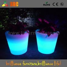 Multicolor LED flower pot/light up flower vase/outdoor furniture