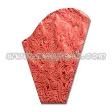 BOPP Color Printing Flower Packing Sleeve Bag/opp plastic printing packaging fresh flower sleeve bag