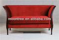 Moontree msf-1109 muebles de calidad superior de madera de haya a prueba de fuego del marco sofá de la tela
