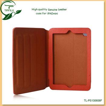 For ipad mini mobile phone accessories,genuine leather case for ipad mini,for ipad mini leather case cover